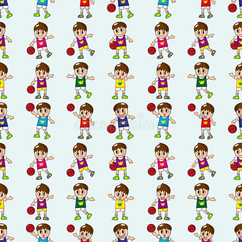 Download Seamless Basketball Pattern Stock Vector - Image: 27858437