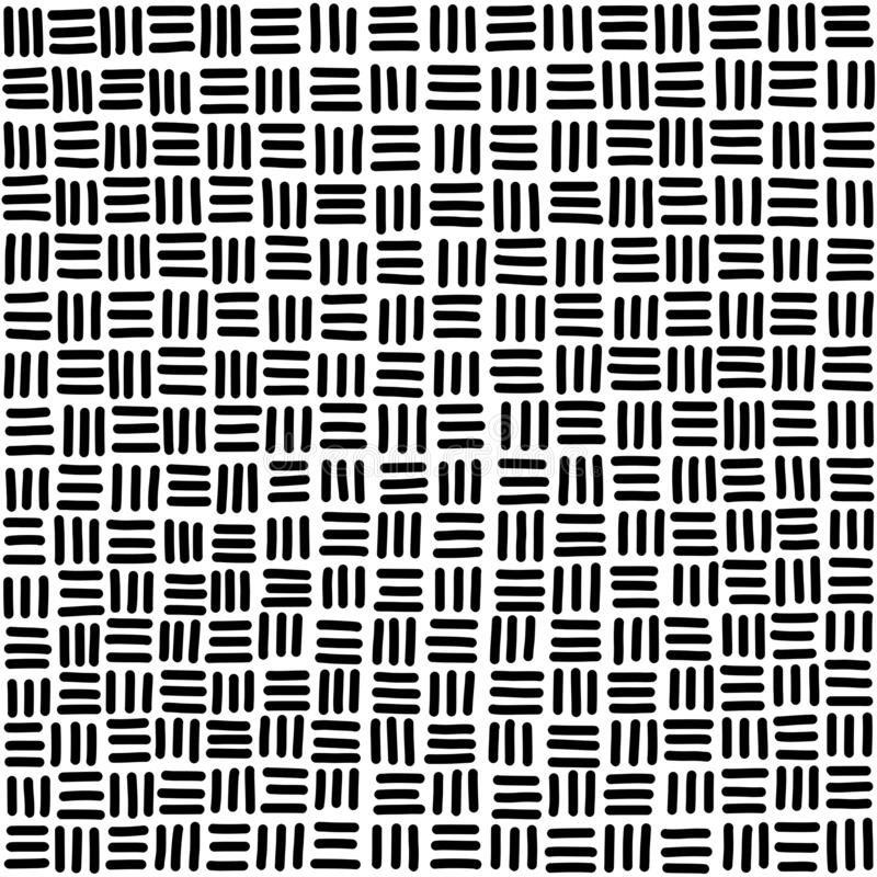 Free Seamless Basketweave Pattern Tile In Black And White Royalty Free Stock Photos - 171142828