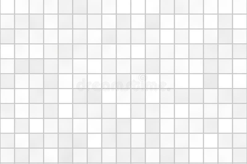 Seamless bathroom tiles mosaic texture stock illustration