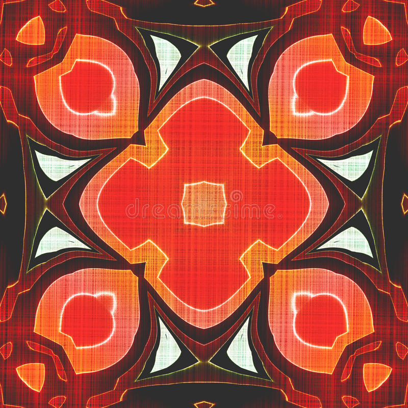 Seamless Batik orange background royalty free stock photos