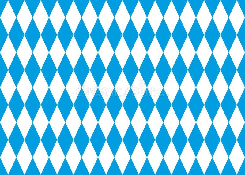 Seamless bavarian flag vector background. Seamless bavarian flag background, vector illustration vector illustration