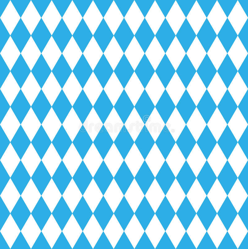 Bavarian October fest flag. Seamless Bavarian October fest checked flag vector illustration