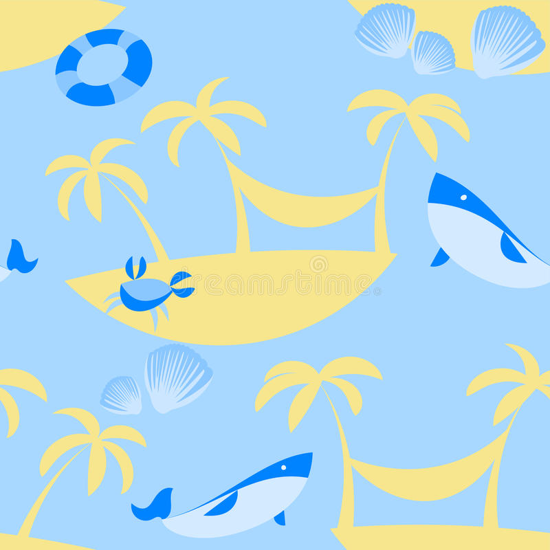 Download Seamless Beach Vector Pattern Stock Vector - Image: 42379374