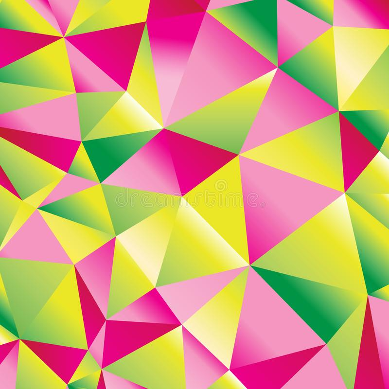 Seamless beautiful abstract geometric pattern of bright polygons stock illustration