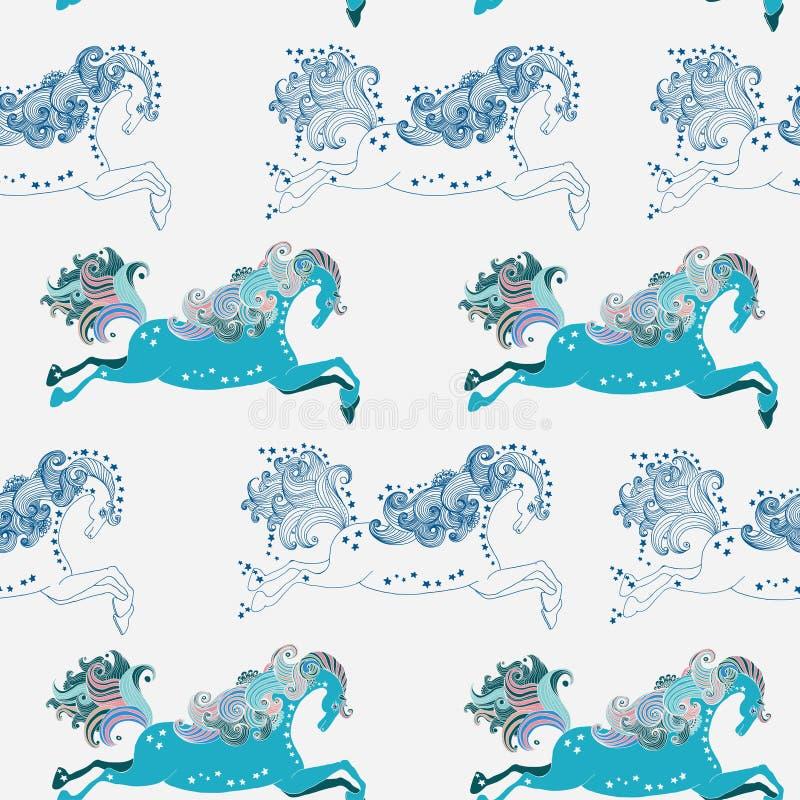 Download Seamless Beautiful Jumping Horse Stock Illustration - Image: 33799052