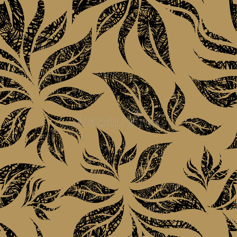 Seamless Beige Floral Pattern Royalty Free Stock Image