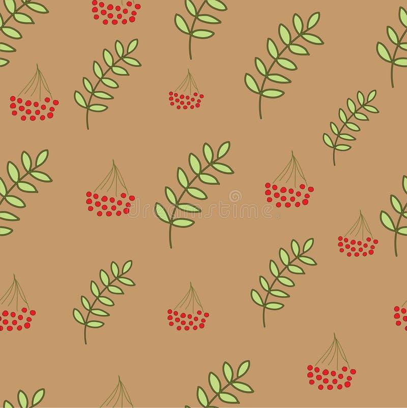 Seamless berry pattern