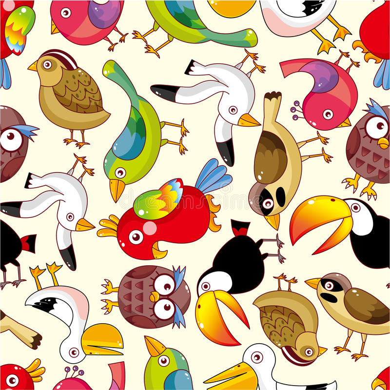 Download Seamless bird pattern stock vector. Illustration of cute - 17635022