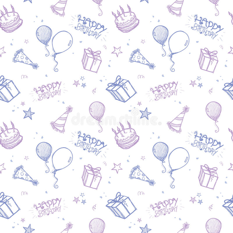 Seamless Birthday Background royalty free illustration