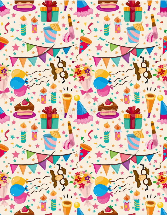 Download Seamless birthday pattern stock vector. Image of beauty - 21059144