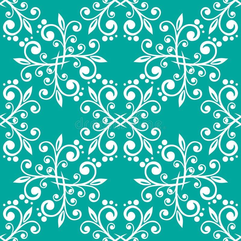 seamless blå blom- modell royaltyfri illustrationer