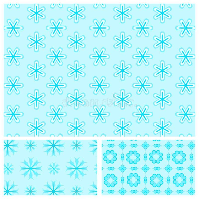 Download Seamless Blått Mönstrar Med Snowflakes Stock Illustrationer - Illustration av ferie, december: 27281770