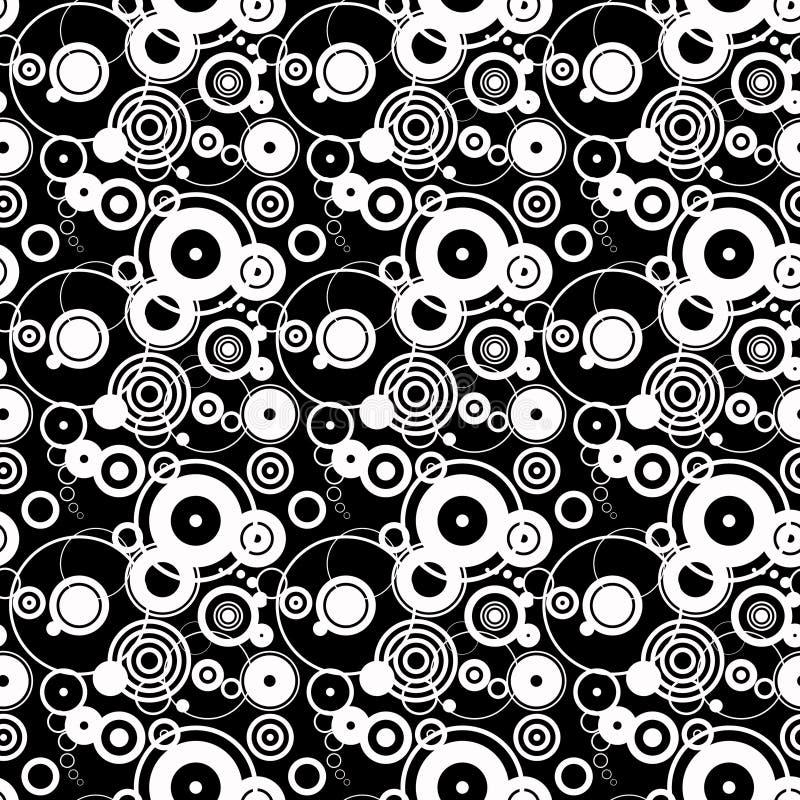 White circles black background royalty free illustration