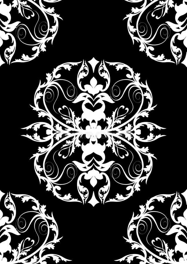Seamless black baroque design stock photos