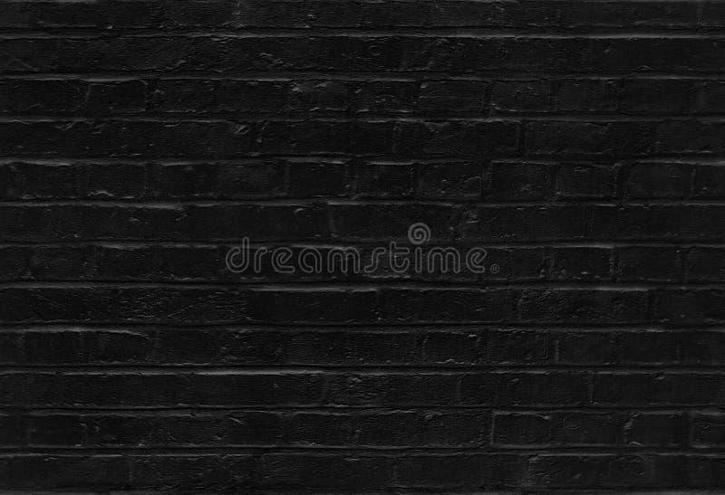 Seamless black brick wall pattern texture. Seamless black brick wall texture suitable for pattern filling royalty free stock photography