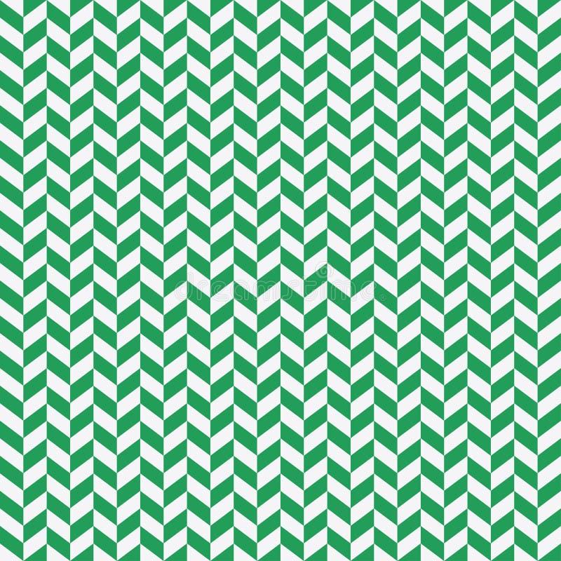 Seamless black and green herringbone pattern. Vector background. royalty free illustration