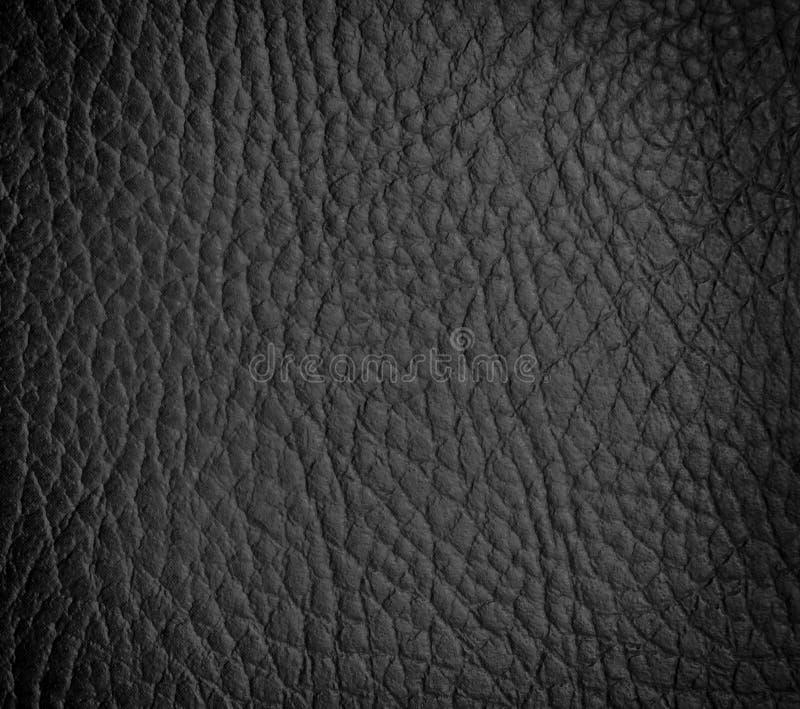 Seamless black leather texture stock image
