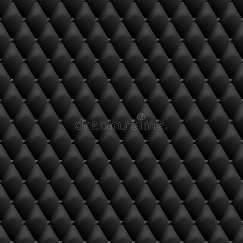 Seamless black leather texture. Vector leather background. Luxury textile design, interior and furniture decoration concept royalty free illustration
