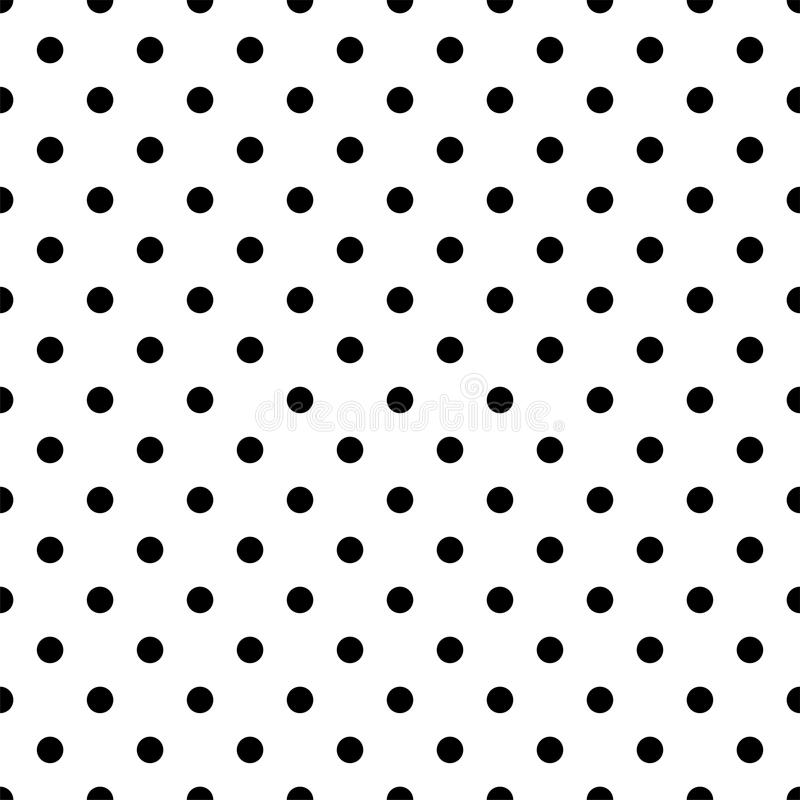 seamless black polka dot pattern on white vector illustration rh dreamstime com vector dot pattern gradient vector dot pattern free download