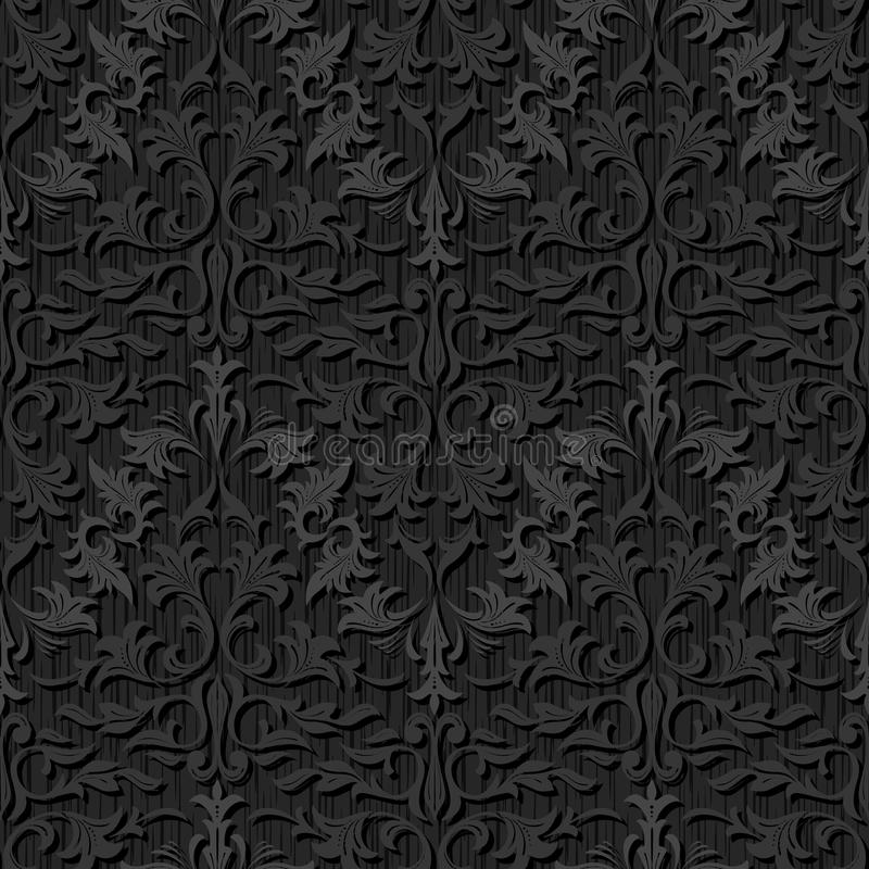 seamless black silk wallpaper pattern floral abstract background 32549816