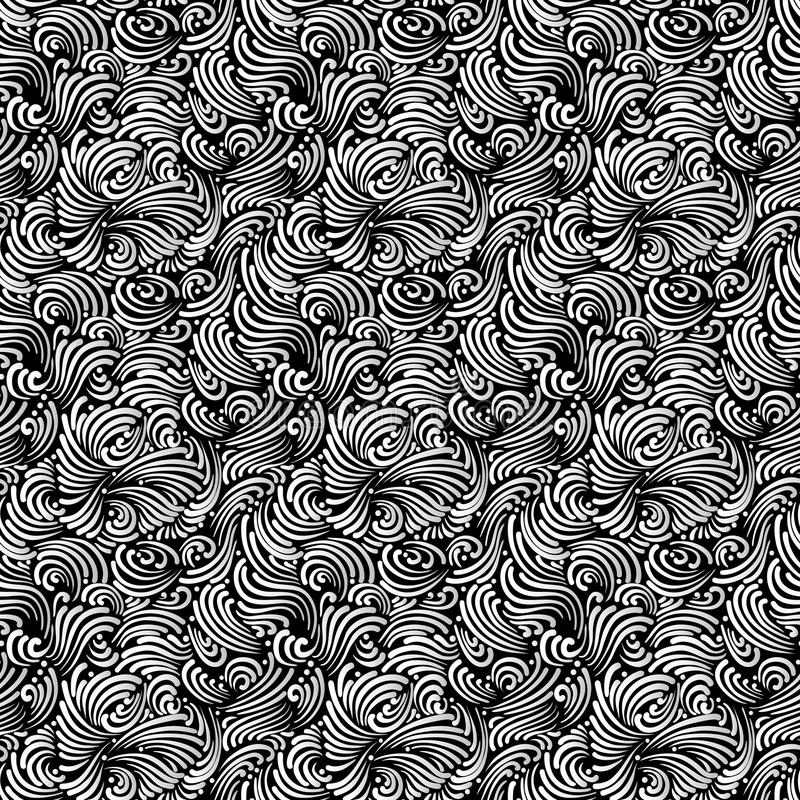 Seamless black and white background royalty free illustration