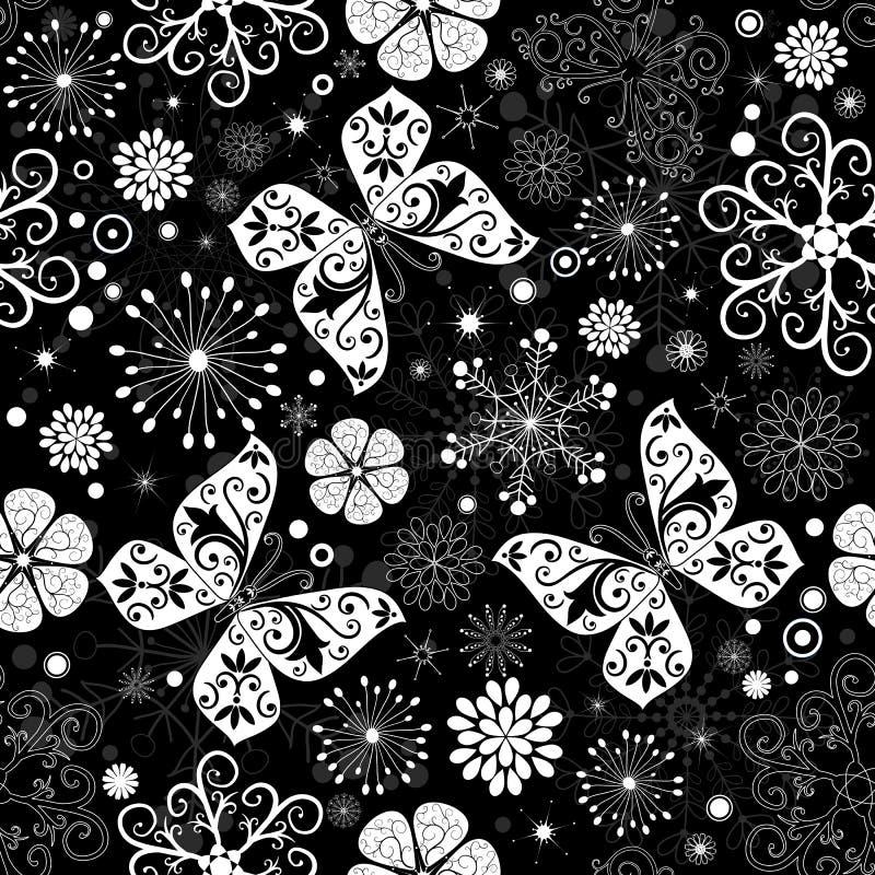 Download Seamless Black-white Christmas Graphic Pattern Stock Photo - Image: 16034450