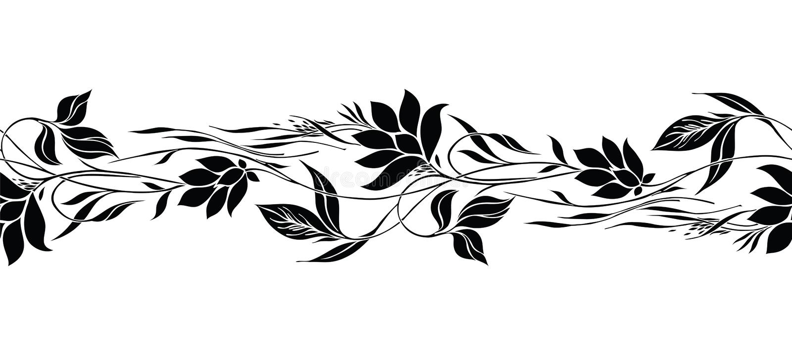 Black And White Round Floral Border Stock Vector - Illustration of floral,  white: 115493129
