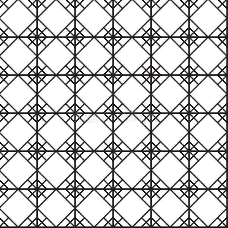 Seamless black - white geometric pattern outline. Suitable for tissue or packages vector illustration