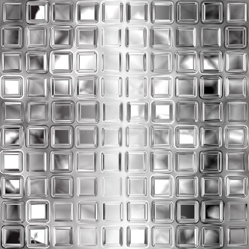 Seamless black and white glass tiles texture. Black and white glass tiles texture royalty free illustration