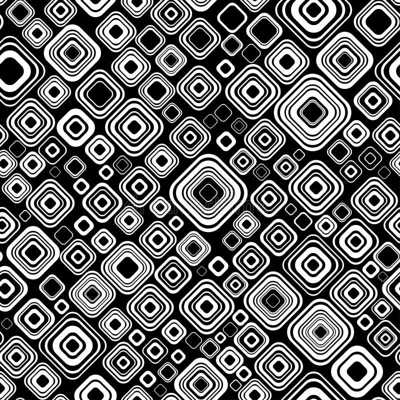 Seamless black-and-white pattern stock illustration