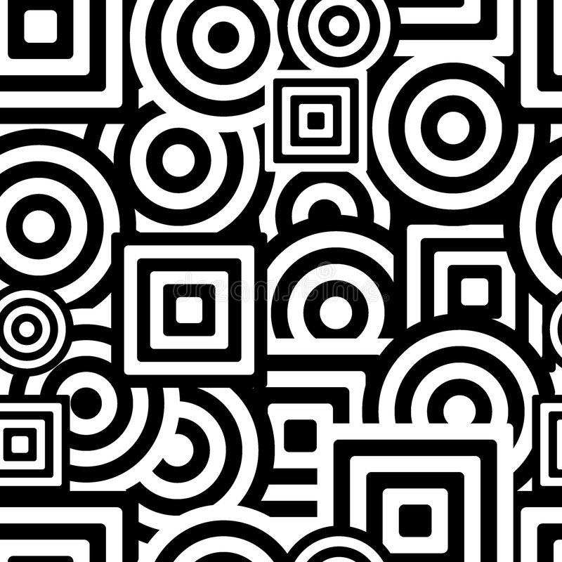 Seamless black and white pattern vector illustration