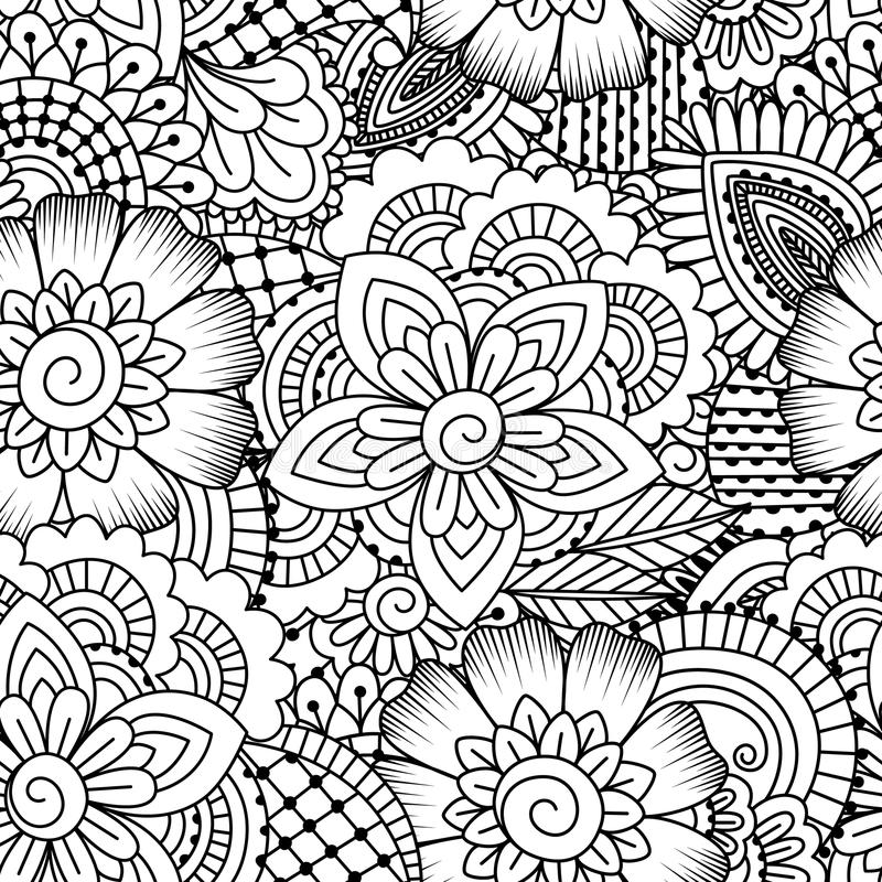 Seamless black and white pattern. royalty free illustration