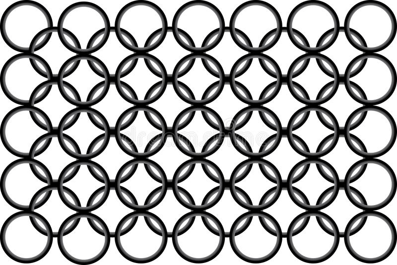 Download Seamless Black-and-white Pattern With Round Stock Vector - Illustration: 12046176