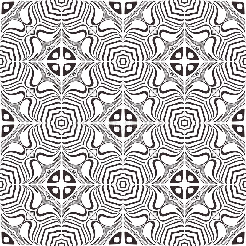 Seamless black and white pattern royalty free illustration