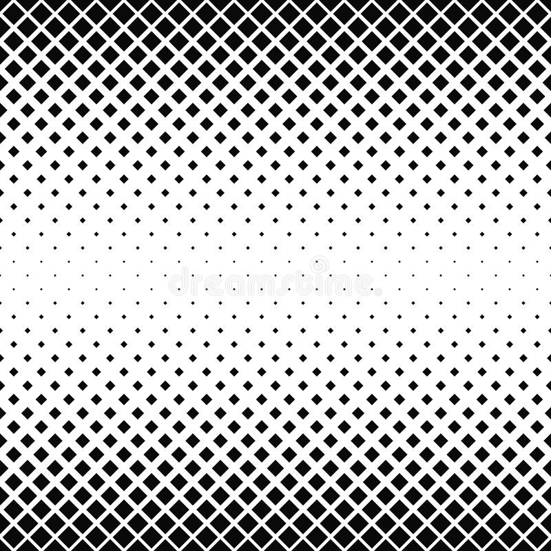 Seamless black and white square pattern vector illustration