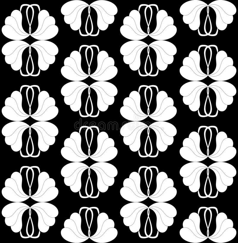 Download Seamless Black White Wallpaper Stock Illustration
