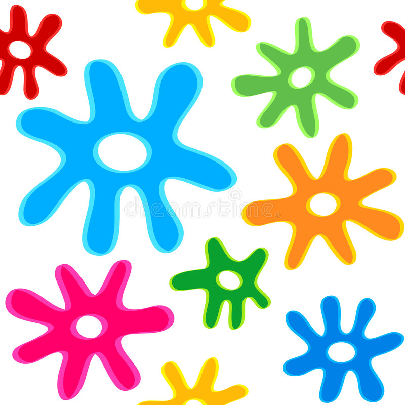 Seamless Blobs Pattern Stock Photo