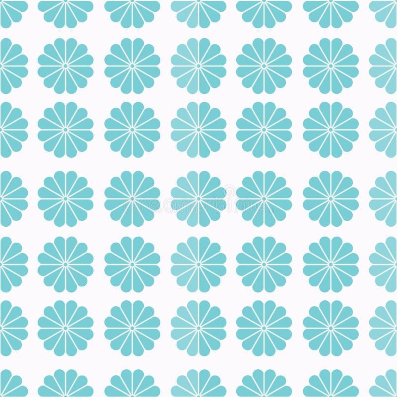 Seamless Block Pattern of Light Blue Geometric Elements on Neutral Background Texture vector illustration