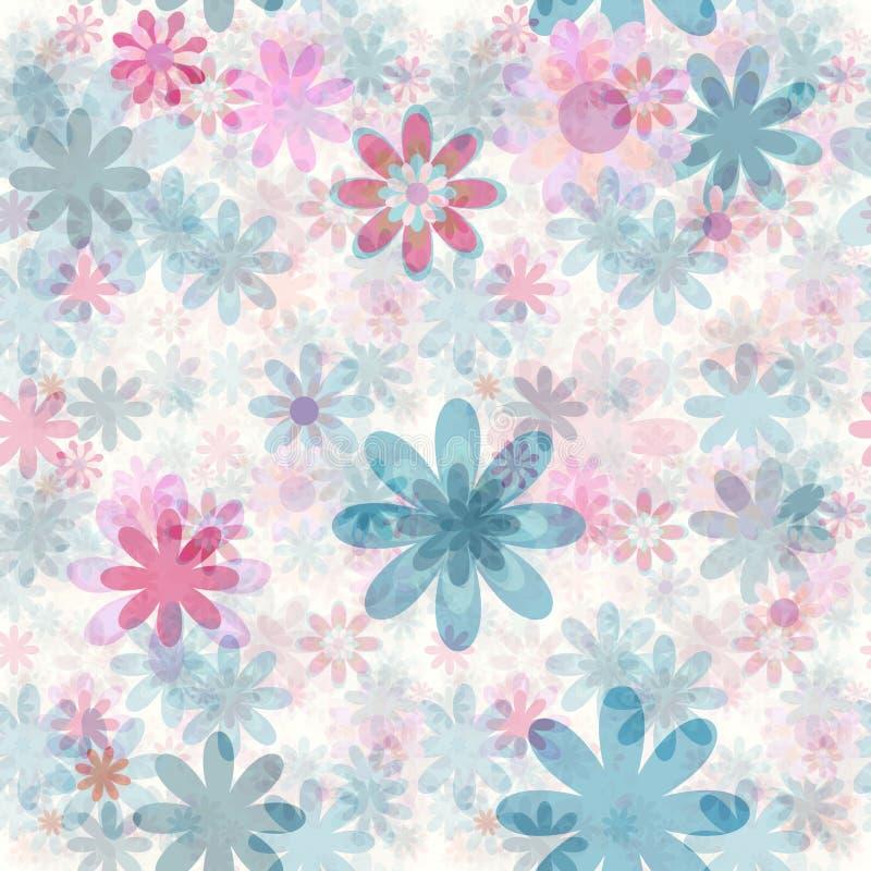 Seamless blom- stock illustrationer