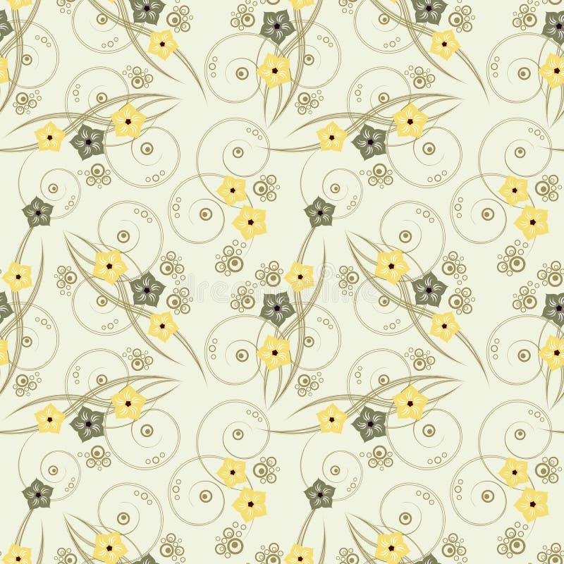 Download Seamless blom- bakgrund stock illustrationer. Illustration av dekor - 19775554