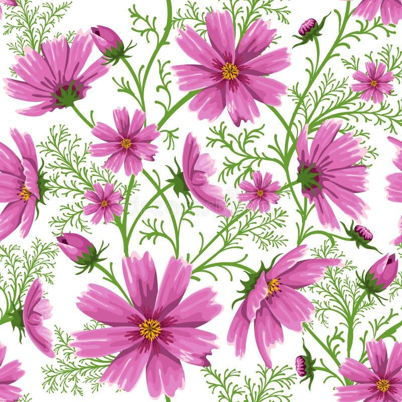 Seamless blom- bakgrund royaltyfri illustrationer