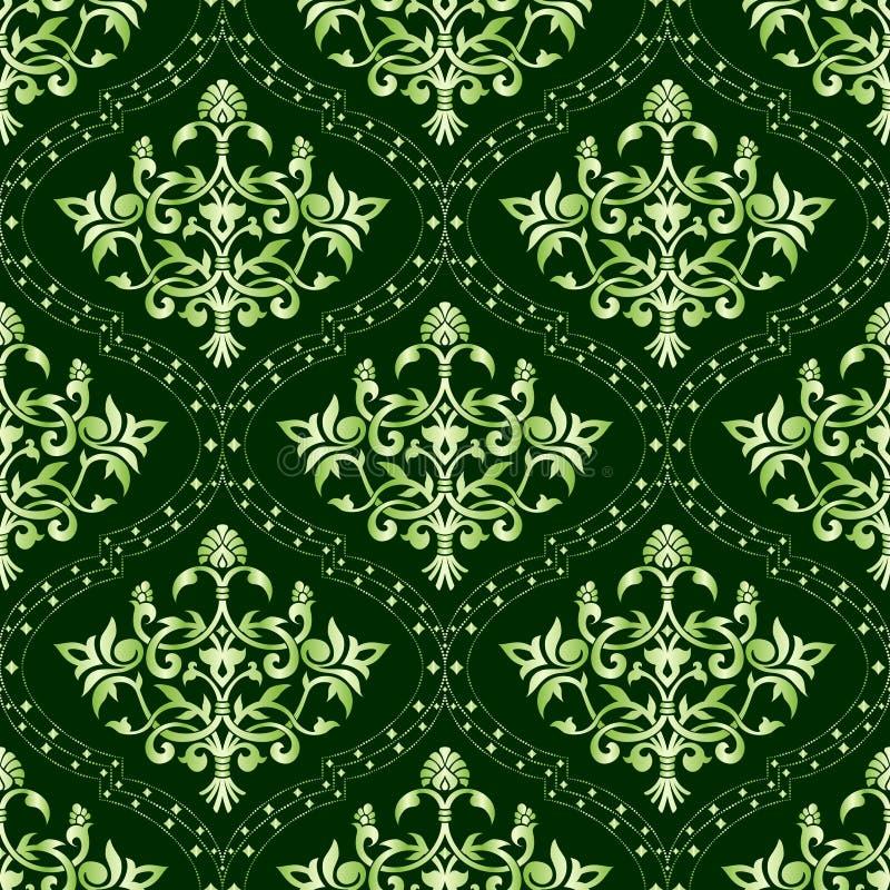 seamless blom- grön modell vektor illustrationer