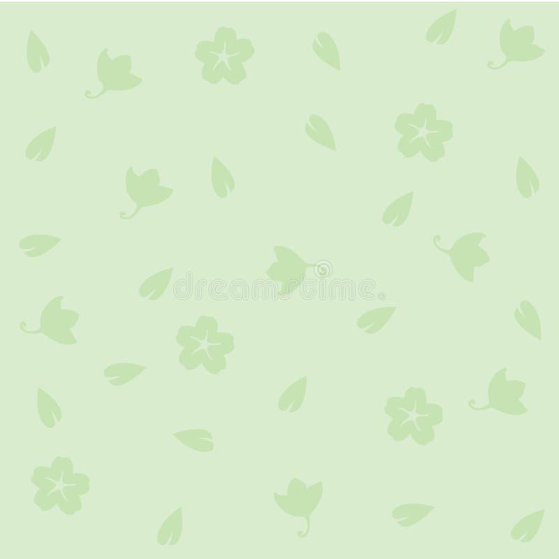 seamless blom- grön modell stock illustrationer