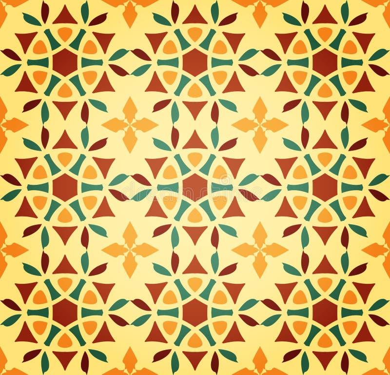 seamless blom- islamisk modell vektor illustrationer