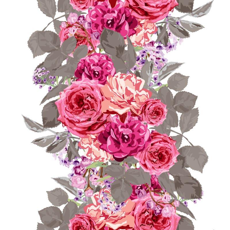 seamless blom- modell vektor illustrationer