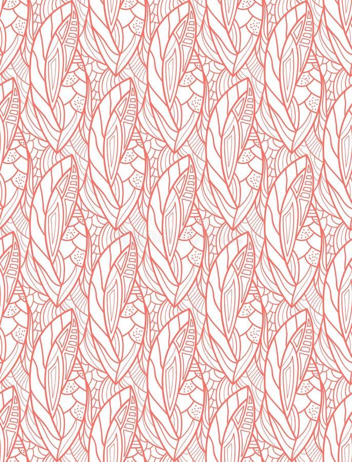 seamless blom- modell textur Bo korallfärg också vektor för coreldrawillustration vektor illustrationer