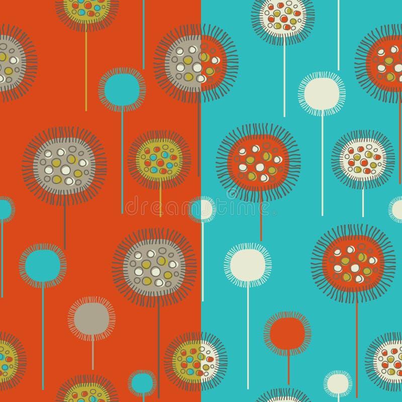 seamless blom- modeller vektor illustrationer