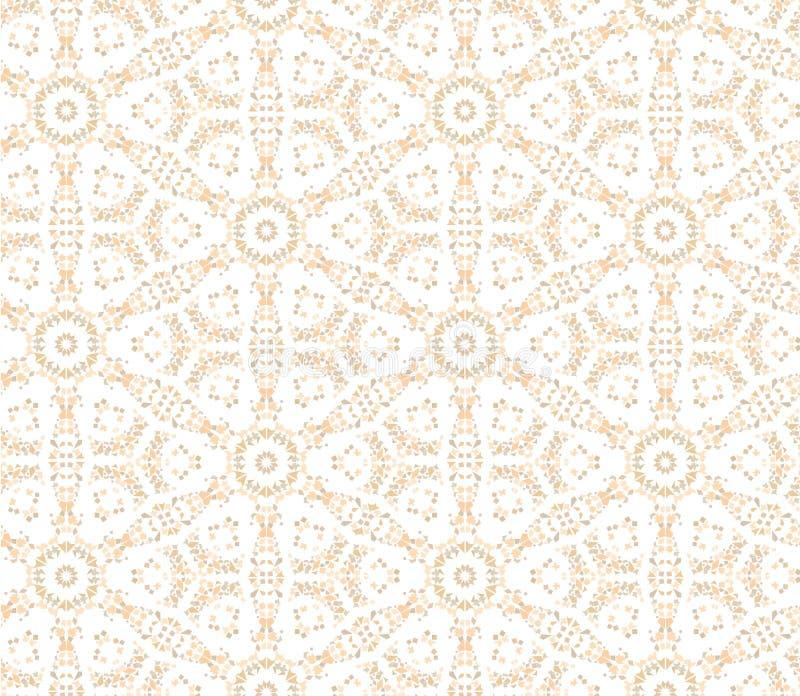Seamless blom- mosaikmodell stock illustrationer