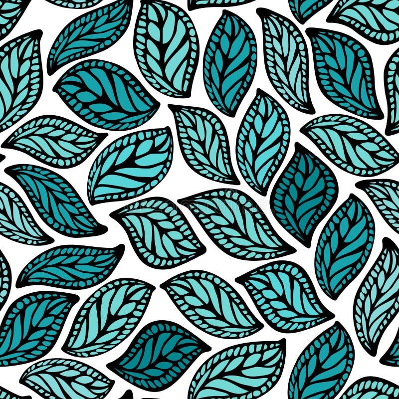 seamless blom- prydnad royaltyfri illustrationer