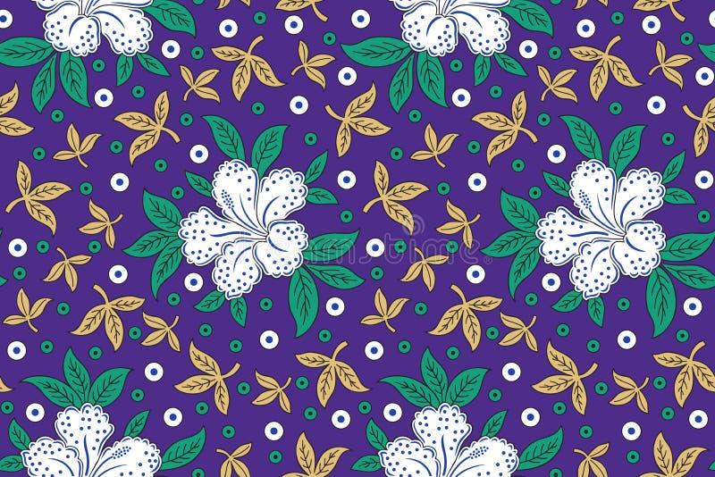 Seamless blom- bakgrund för tyger och torkdukar vektor illustrationer